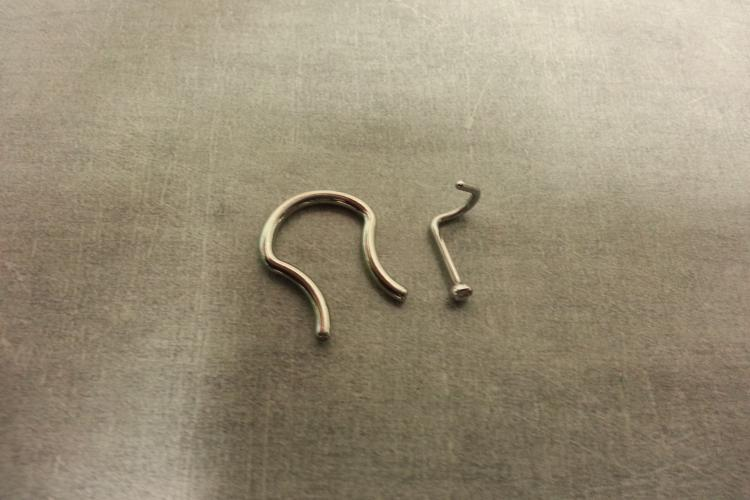 Septum Retainer and Nostril Screw